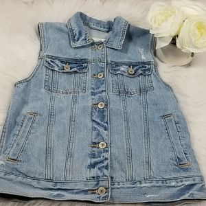 Abercrombie and Fitch Denim Vest XS